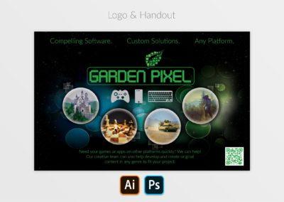 Garden Pixel Logo and Handout Mockup
