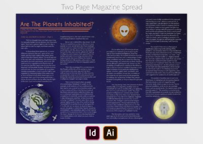 Magazine Spread Display