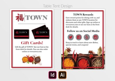TOWN Table Tent Display